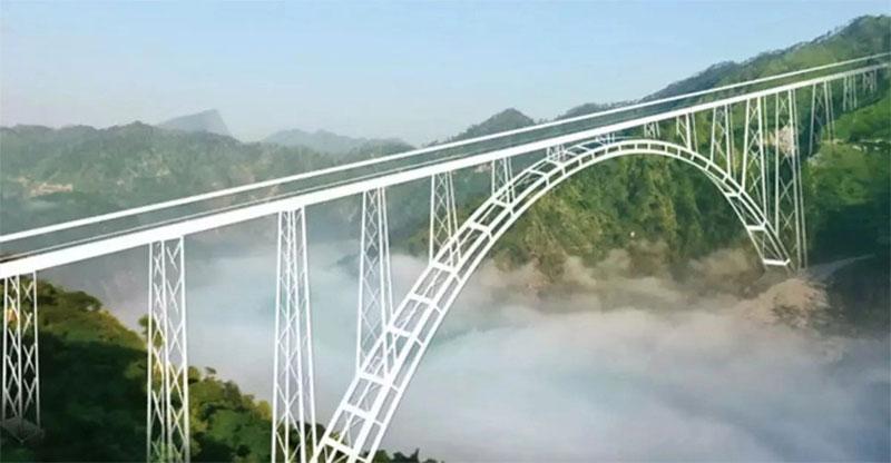 বিশ্বের সবচেয়ে উঁচু রেল সেতু চালু হচ্ছে কাশ্মীরে