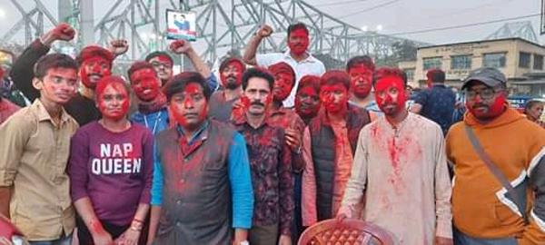 নবান্ন অভিযানে জয় তাদেরই! হাওড়ায় বামেদের অকাল হোলি - West Bengal News 24