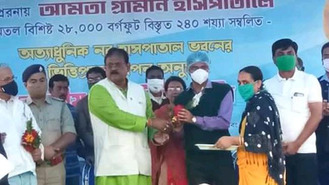 আমতায় মেডিকেল কলেজের আদলে মডেল হসপিটালের উদ্বোধন করলেন বিধায়ক তথা মন্ত্রী ড.নির্মল মাজি - West Bengal News 24