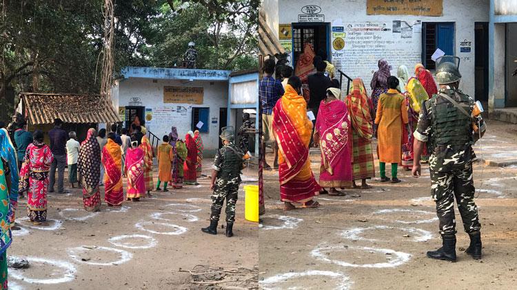 West Bengal Assembly Election 2021 : ঝাড়গ্রামের ভোট নির্বিঘ্নে, ১২ বছর পরে ভোটের লাইনে ছত্রধর - West Bengal News 24