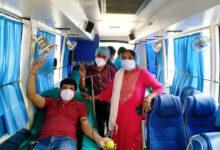 বাতানুকুল বাসে রক্তদান শিবির ঝাড়গ্রামে - West Bengal News 24